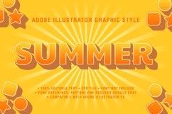 5 Summer Text Effect Graphic Styles Vector Product Image 6