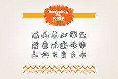 Hand Drawn Thanksgiving Day Icons Product Image 1