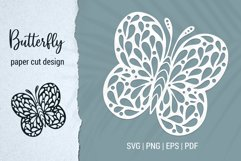 Free Butterfly Paper Cut Design Bundle for Cricut and Silhouette Product Image 5