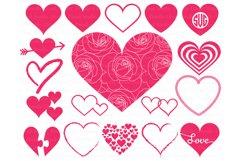Heart svg, Heart Monogram SVG files. Valentine Day svg. Product Image 1