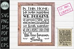 House Rules Farmhouse SVG, Printable and Sublimation PNG Product Image 1