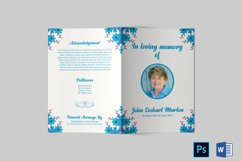 Funeral Program Template | Obituary Template Product Image 4