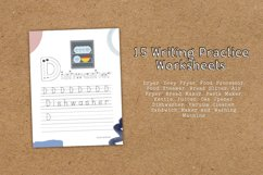 Home Appliances 2 Educational Writing Practice Worksheet Product Image 5