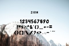 Zion | An Eroded Grunge Font Product Image 3