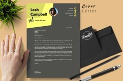 Modern Resume CV Template for Word & Pages Leah Campbell Product Image 5