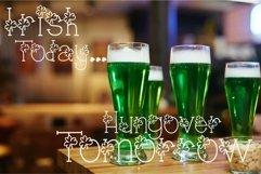 Lucky You Hand Lettered Shamrock Irish Font Product Image 4