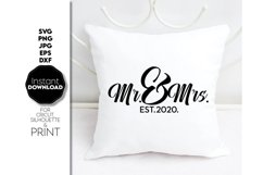 Wedding svg file, Mr and Mrs SVG, Just Married Shirts Product Image 1