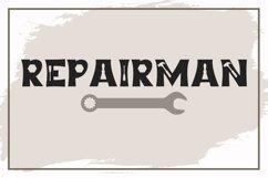 Repairman - a Fun Tool Font Product Image 1