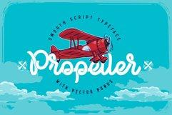 Propeller font illustration Product Image 1