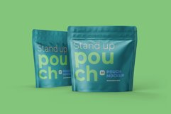 Zip Stand-up Pouch Mockup square Product Image 6