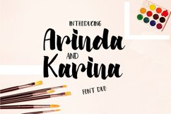 Arinda and Karina | Font Duo Product Image 1