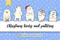 Christmas bears and patterns Product Image 1