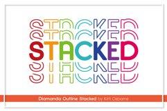 Diamanda Stacked - Retro Font Product Image 3