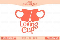 Love Cups - Craft SVG Store  Product Image 1