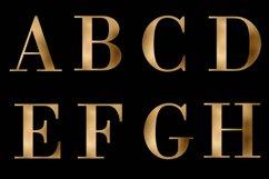 Alphabet, Gold letters, gold sublimation, gold foil Product Image 4