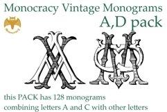 Monocracy Vintage Monograms Pack DA Product Image 1