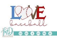 Baseball Mom - Baseball Heart - Baseball Love SVG Product Image 1