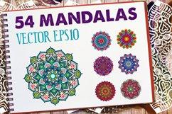 54 Vector Mandalas - Big Collection Product Image 1