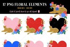 Leopard Floral Clipart & Patterns Product Image 5