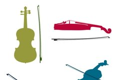 MUSICAL INSTRUMENTS collection Clipart. Vector illustration Product Image 4