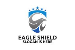 Head of the eagle on the shield logo design Product Image 4
