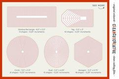 Stitched Nesting Shapes SVG | card making sketch foil paper Product Image 4