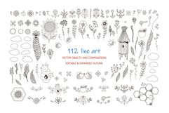 Honey Bee Vector Clipart Set Product Image 2