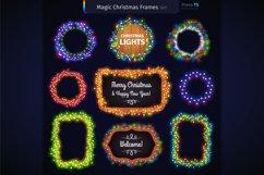 Magic Christmas Lights Vector Brushes Big Set Product Image 6