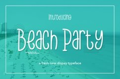 Web Font Beach Party Product Image 1
