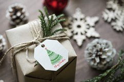 Merry Christmas card with Christmas tree SVG.PNG.JPG.EPS10 Product Image 5