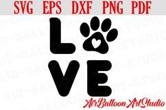 Paw Print Svg Love Paw Svg Love Dog Svg Paw Print Dog Svg Product Image 1