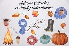 Watercolor Autumn Elements Product Image 2
