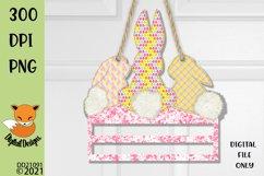 Bunny Rail Door Hanger Sublimation Design Product Image 1