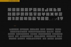 Geometric Maze Font Product Image 3