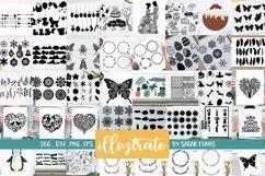 HUGE SVG Graphics Bundle - illustration SVG Cut Files Product Image 1