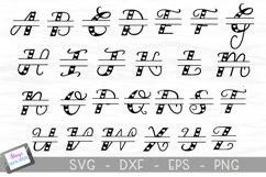 Split Letters A-Z - 26 split monogram files - Hearts Product Image 2