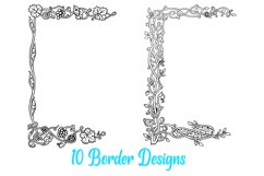 10 William Morris Style Border Lines Illustration Collection Product Image 5