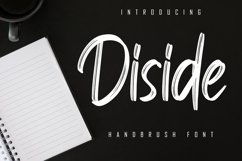 Diside - Handbrush Font Product Image 1
