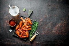 20 Photos Delicious cooked crayfish. Backgrounds. Product Image 3