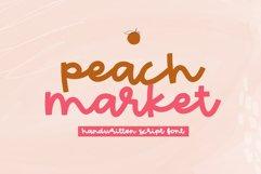 Peach Market - A Handwritten Script Font Product Image 1