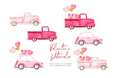 Pink and Gold Heart Balloon clipart, Valentine Clipart Product Image 4