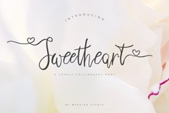 Sweetheart Lovely Calligraphy Font Product Image 1