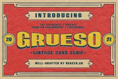 GRUESO - Vintage Typeface Product Image 1