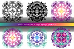 Set of bright vector mandalas Product Image 5