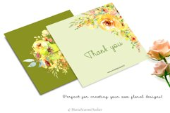 Watercolor flowers - Yellow February Product Image 5