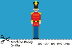 Cute Christmas Toy Soldier SVG Cut Files Product Image 1