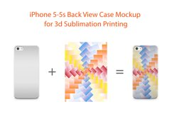 iphone 5-5s 3d case Mockup Back View Product Image 2