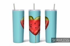 Watermelon Tumbler Sublimation   20 oz   Taper   Straight Product Image 1