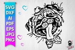 Funny Pug Portrait SVG design Product Image 1