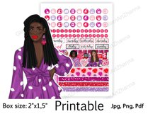 """Galentine's Day African American Stickers Box Size 2""""x1,5"""" Product Image 4"""